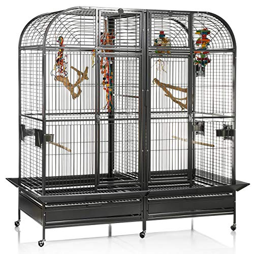 Montana Cages ® | Papageienvoliere XXL Los Angeles - in Antik 183 x 85cm reines Papageienkäfig Maß