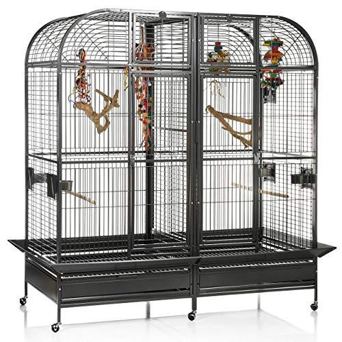 Montana Cages Papageienkäfig XXL Palace, Voliere, Zimmervoliere, mit Trennwand für Papageien
