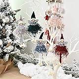 ZSWQ 6pcs Forma di Angelo di Natale Christmas Hanging Ornament Angel Dolls Albero di Natale Decorazione per Feste Articoli per Feste fortunati Decorazioni Natalizie