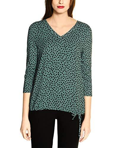 STREET ONE Damen 314667 T-Shirt, thyme jade, 44