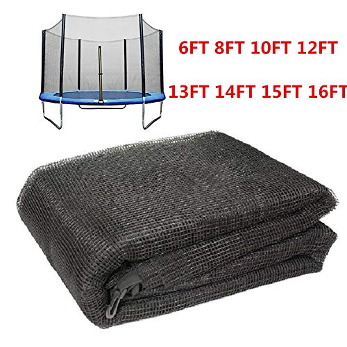 BIN Trampoline Protective Netwith Zipper Replacement Enclosure Surrounds 6 8 10 12 13 14 15 16 FT for Round Frame Trampolines No Trampoline,16FT for 12 poles trampoline
