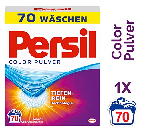 Persil Color Pulver, Waschmittel, 70 Waschladungen mit Tiefenrein-Technologie