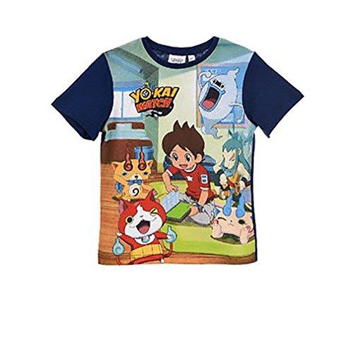 T-Shirt Yokai Watch Enfant (3 Ans, Marine)