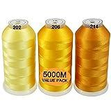 New brothread Conjunto de 3 Diferentes Amarillo Colores...