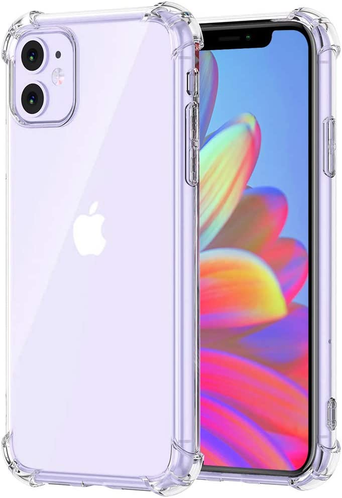 iPhone 11 Case, OWRORA [Crystal Clear] NewCover Case [Shock Absorption] Crystal Clear Soft TPU Cover Full Protective Bumper for Apple iPhone 11 (6.1'')- Clear