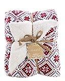 ReLIVE Reversible Velvet Luxury Berber Throw Blanket 50x60 (Winterberry)