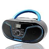 LONPOO Lecteur CD Radio FM Portable Boombox, Lecteur MP3 / CD Bluetooth, avec entrée...