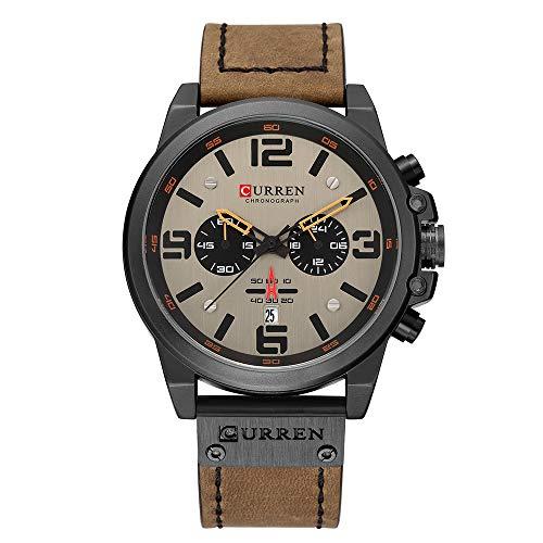 CURREN Herrenuhr Quarz-Markenuhr Armbanduhr Kalender Stunde Minute Zeitanzeige Lederuhr