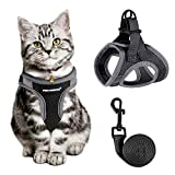 Cat Harness and Leash for Walking Escape Proof, Adjustable Cat Leash and Harness Set, Life...