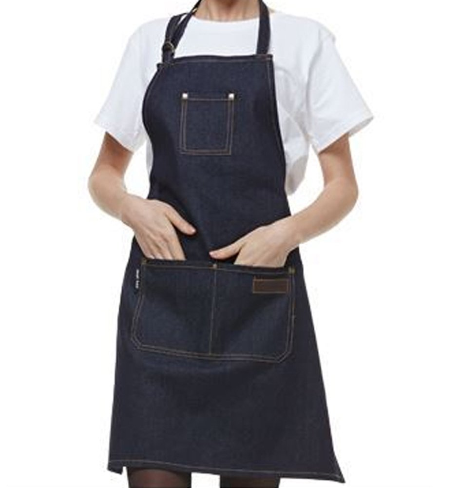 Denim Apron Angtuo Thick Sleeveless Personality Aprons Fashion
