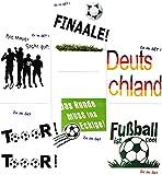 alles-meine.de GmbH 1 Set _ große _ Fensterbilder -  Fußball  - Sticker Fenstersticker Aufkleber - selbstklebend + wiederverwendbar - Fensterbild / z.B. für Fenster und Spiegel..
