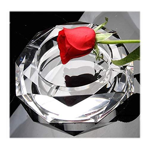 Cenicero con fondo de cristal de espejo octogonal