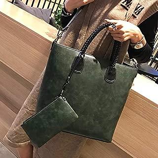 WTYD Single Shoulder Bag Leisure Fashion PU Leather Shoulder Bag Handbag (Black) (Color : Green)