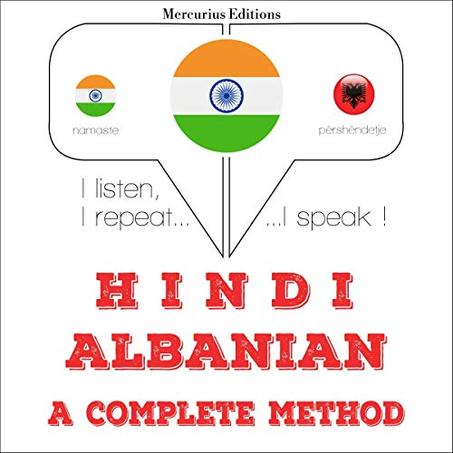 Hindi - Albanian. a complete method audiobook cover art