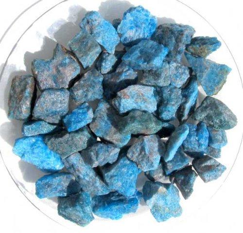 Edel-Depot Blauer Apatit aus Madagaskar, 300 g. Rohsteine Minerale