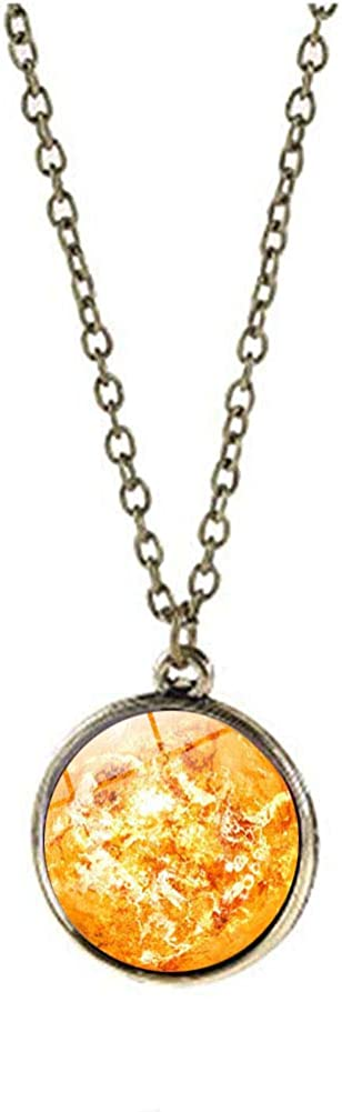 JczR.Y Eight Planets Necklace Pendent Glass Un Double-Sided Discount SEAL limited product is also underway Ball