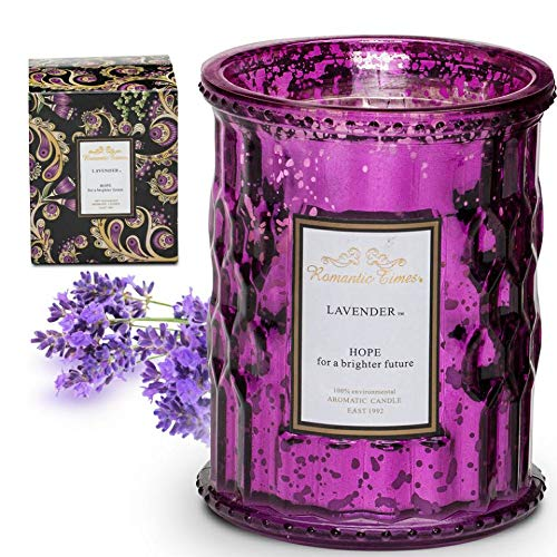 Scented Candles, Lavender Soy Coconut Candles for Stress Relief,Bath and Body Works, Pillar Candles for Home Gifts for Women Who Has Everything