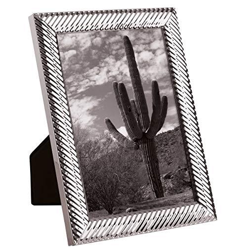 Butlers Memories Metall Bilderrahmen glänzend - Bilderrahmen - Silber - Hochglanz - Dekorativ - Dekobilderrahmen- glänzend - 9x13 cm