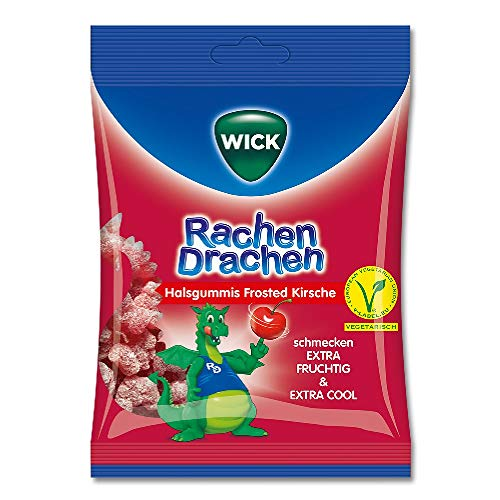 WICK WICK RachenDrachen Halsgummis Kirsche - 75 g Bonbons 12646061