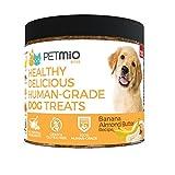 PetMio Bites - Human Grade Dog Treats, Banana Almond Butter Pumpkin Recipe,...