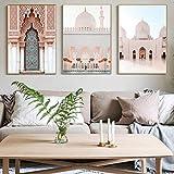 Islamische Architektur Wandkunst Leinwand Malerei 3 Stück