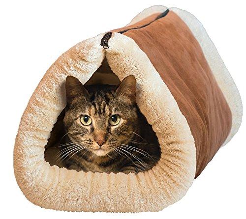 dahanbl Katze Tunnel Katze Matte PET Bett Schlafsack Pet Zubehör (braun)
