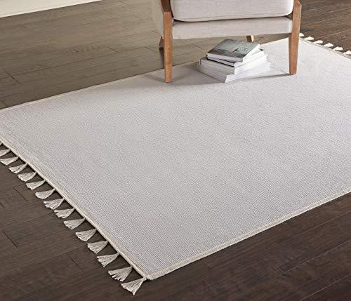 Marca de Amazon - Movian Iskar, alfombra rectangular, 129,5 de largo x 68,6 cm de ancho (diseño liso)