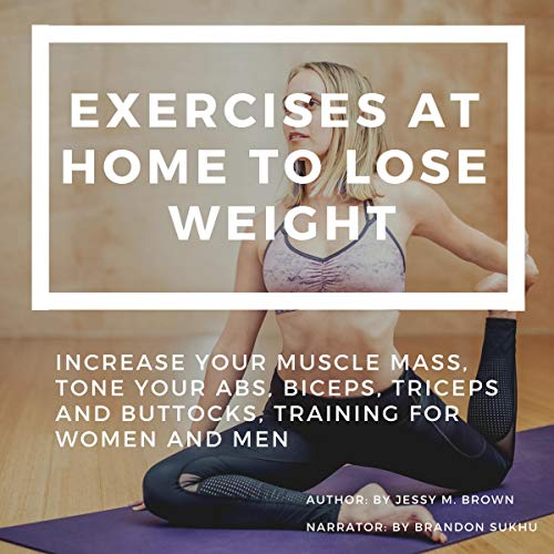 Exercises at Home to Lose Weight audiobook cover art