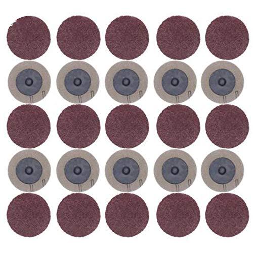Adanse 100 StüCke Schleifscheibe für Roloc 50 Mm 40 60 80 120 Schleifmaschine Papierscheibe Schleifscheibe Schleifwerkzeuge Zubeh?R
