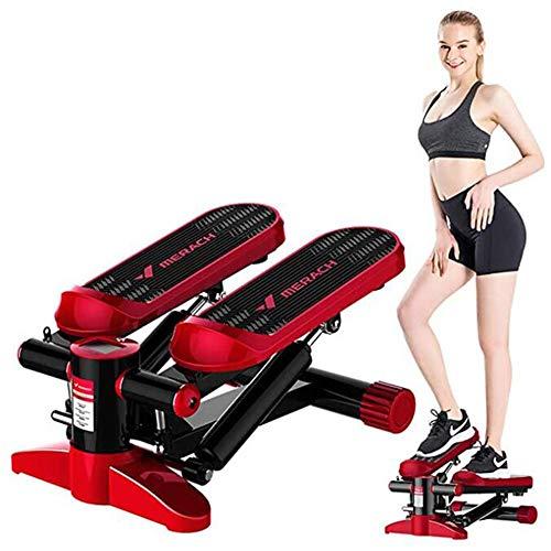 Gymqian Massager Stepper Idraulico Domestico, Attrezzo Ginnico Silenzioso, Stepper Fitness Mini Stepper, Stepper Laterale, Stepper Su E Giù, Display Multifunzione