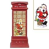 Heasylife - Scatola per telefono con sfera di neve, con Babbo Natale, con fiocchi di neve e fiocchi di neve, 2 modalità di ricarica per Natale o regalo