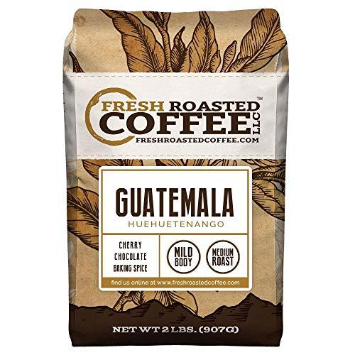 Fresh Roasted Coffee LLC, Guatemalan Huehuetenango Coffee, Medium Roast, Whole Bean, 2 Pound Bag