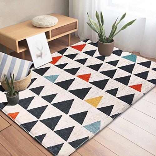 Creative Light Modern Geometry Carpet Bedroom Canapé Table à café Tapis Rectangulaire Full Shop Couverture de Chevet (Taille : 100cm*150cm)