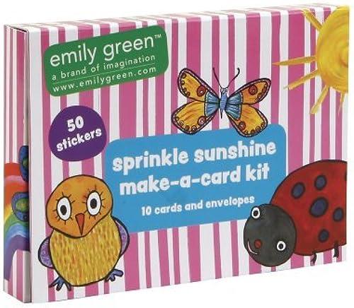 C.R. Gibson Emily Grün Make-A-Card Stationery Set, Sprinkle Sunshine by C.R. Gibson