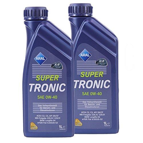 2x 1 L Liter ARAL SuperTronic 0W-40 Motoröl