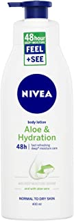 NIVEA Aloe & Hydration 48 Hour Intense Body Lotion & Moisturiser with Intensive Moisture Serum & Aloe Vera for Normal to Dry Skin, 400 ml