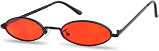 Ultra Small Oval Vintage Sun Glasses Slim Retro Steampunk Slender Candy Color Tinted Shades