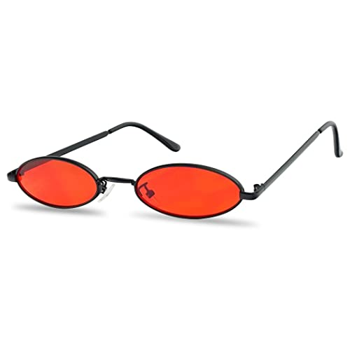 a848f6100a909 Ultra Small Oval Vintage Sun Glasses Slim Retro Steampunk Slender Candy  Color Tinted Shades
