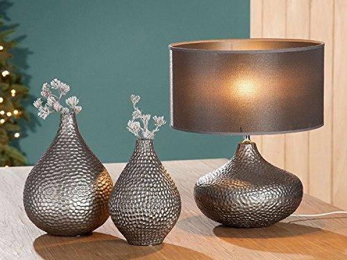 'Piercing Vase 'Apis Argento Opaco Antracite con struttura a nido d' ape altezza: 25cm von CH Trading