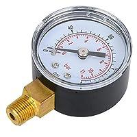 デュアルスケール水圧ゲージ、空気ゲージ、明確な数字の読み方産業用(0-160psi, 0-11bar)