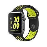 Apple MP0A2MP/A Smartwatch Nike+, 42mm Aluminium Schutzhülle mit Sport Band Space grau/schwarz/Volt