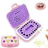 Ourine Caja de recuerdos de dientes de bebé, cajas de dientes para niños, organizador de dientes lindo para niños