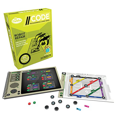 Think Fun Robot Repair Coding Board Game and STEM Toy for Boys and Girls Age 8 and Up