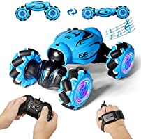 FLYNOVA RC Stunt Car,4WD 2.4GHz Remote Control Gesture Sensor Toy Car,Double Sided 360° Rotation Drift Road Vehicle with...