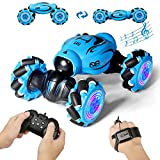 【Two Control Modes】Gesture Sensing Twist and Remote Control.You just need to wear a gesture-sensing watch and give a gesture, and the remote control car will act accordingly. Or you can control it directly via the remote control. 【1:16 All-Round Drif...