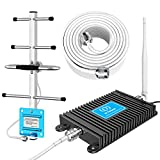 Verizon Cell Phone Signal Booster 700MHz 4G LTE Band 13 FDD Cell Phone Signal Repeater Booster Antenna Kits for Home and Office up to 4000 Sq Ft Improve 4G LTE Data and 4G Calls (Black)