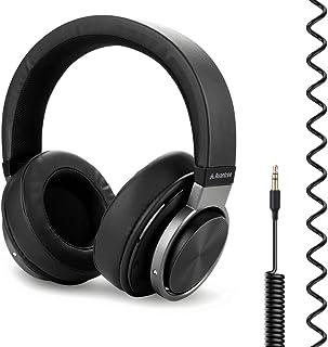 Avantree HF049 Auriculares sobre Oreja Cable Extra Largo Bobina TV(sin Control de Volumen) y PC,Cable extendido AUX 3,5 mm...