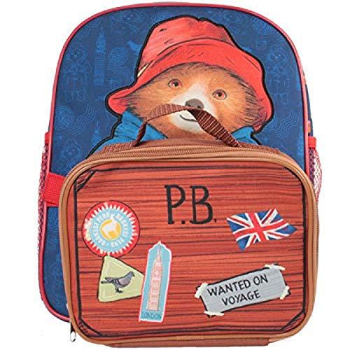 New Paddington Bear Backpack with Detachable Pencil case H30cm X W25cm X D9cm