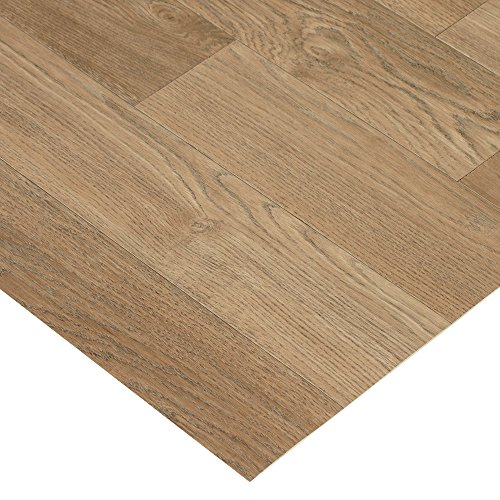 Rubber-Cal Terra-Flex Oak Premium Rubber Flooring Rolls, Nutmeg, 2mm x 5