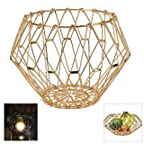 From a simple fruit basket to more modern funky shapes, you can change the whole look just by pushing on the sides!It's unique and stands out.such a cool and inventive fruit basket. Measures 12 inches in diameter when flat . It's so flexible that you...